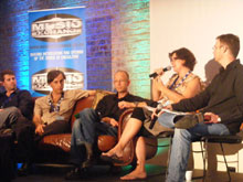 L-R: Evan Milton, Miles Keylock, Justin Curtis, Diane Coetzer, Karl Gostner