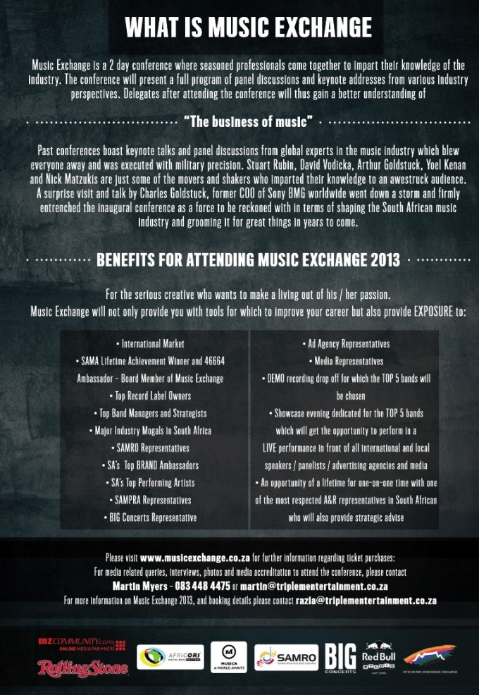 Music Exchange 2013 Flyer - click for bigger picture