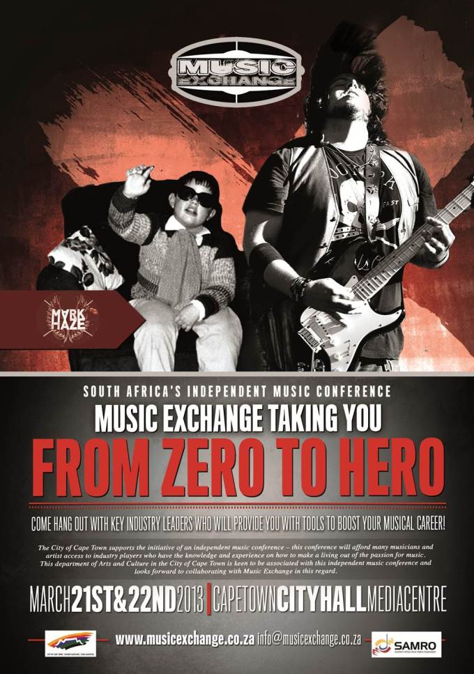 Music Exchange: South Africa's Independent Music Conference, March 21st and 22nd 2013