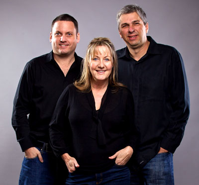 L to R: Tim Hill, Charise Matthews, Martin Myers. Image courtesy of Simon Deiner