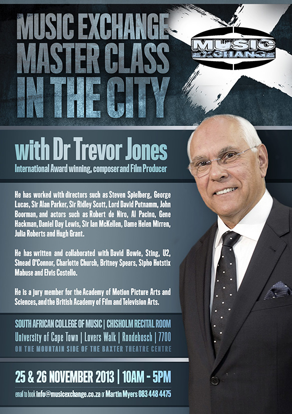 Music Exchange Master Class in the City - Trevor Jones 25 and 26 November 2013 - SACM